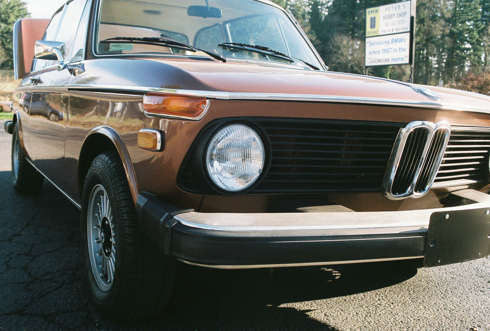 1974 Green BMW 2002 Coupe with Tan interior