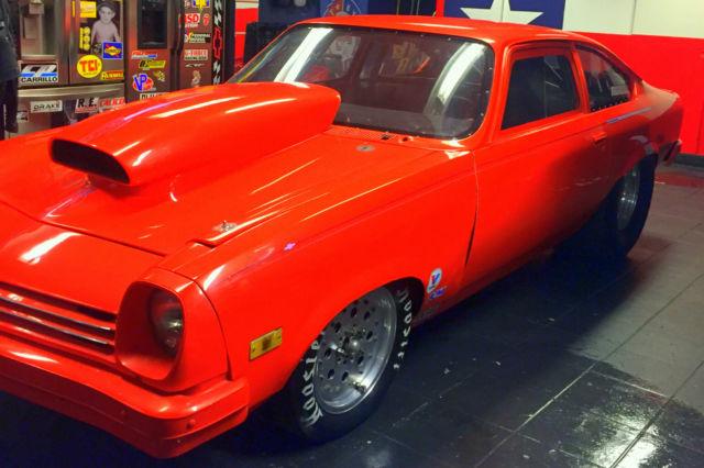 1974 CHEVY VEGA HOT ORANGE DRAG RACE CAR for sale: photos, technical