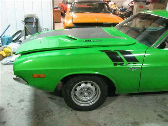 1974 Green Dodge Challenger -- with Black interior