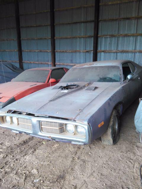 1974 Dodge Charger 2dr Coupe 400 Chrysler V8 Auto Barn Find