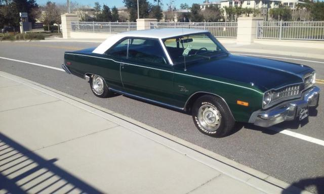 1974 Green Dodge Dart Coupe with Green interior