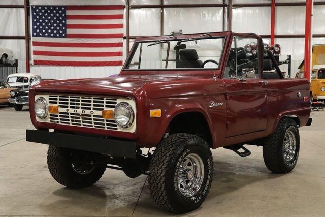 1974 Ford Bronco 206 Miles Burgundy SUV Inline 6-Cylinder