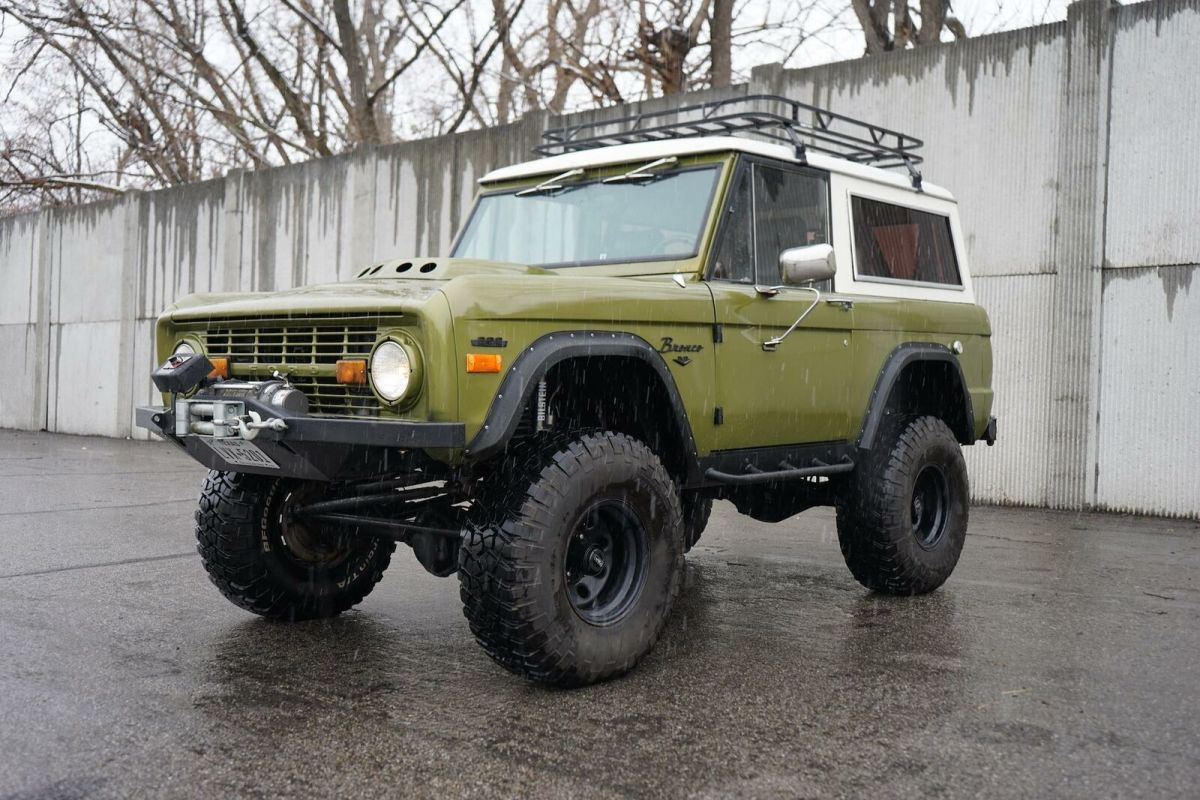 1974 Ford Bronco 45 038 Miles Rescue Green 5 0l Manual For Sale Photos Technical Specifications Description