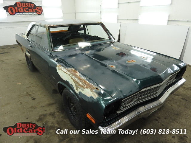 1974 Plymouth Scamp Project Car 318V8 3 spd auto Runs Yard Drives