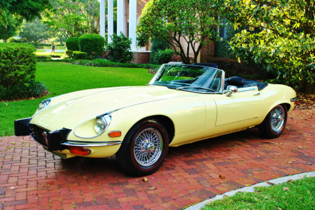 1974 Jaguar E-Type XKE Roadster V-12 Auto Only 27,416 Miles Show Car!