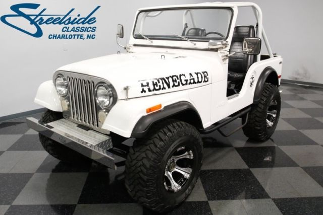 1974 Jeep CJ5 37899 Miles White Jeep 304 V8 3 Speed Automatic for