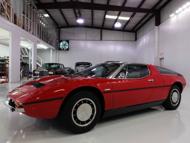 1974 Maserati Bora 4.9 Coupe, Low Miles! Original California Car