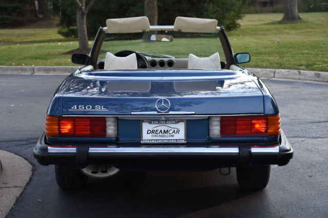1974 Blue Mercedes-Benz SL-Class Convertible with Tan interior