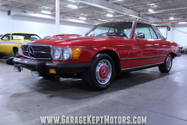 1974 Red Mercedes-Benz SL-Class Coupe with Black interior