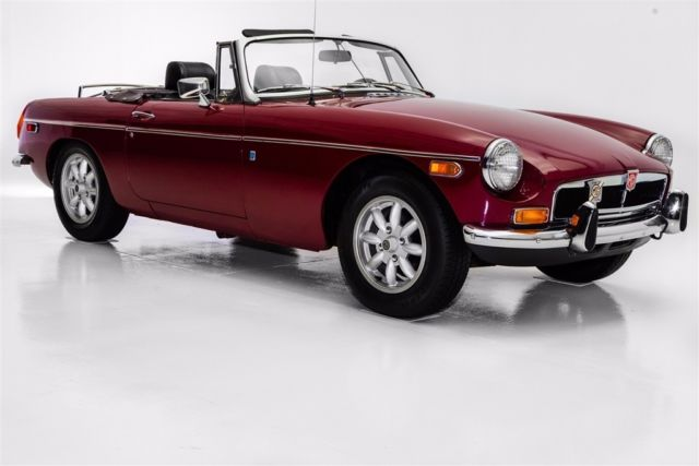 1974 MG MGB Burgundy, Chrome Bumpers, British Sports Car (WHOL