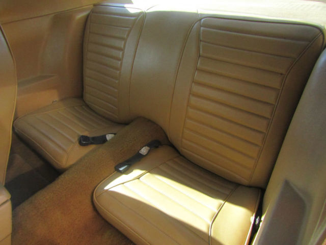 1974 Gold Pontiac Firebird Coupe with Tan interior