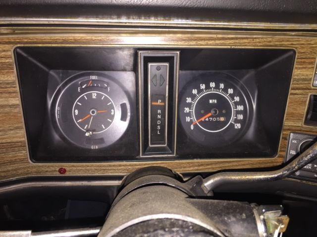 1974 Blue Pontiac Grand Ville Convertible with White interior