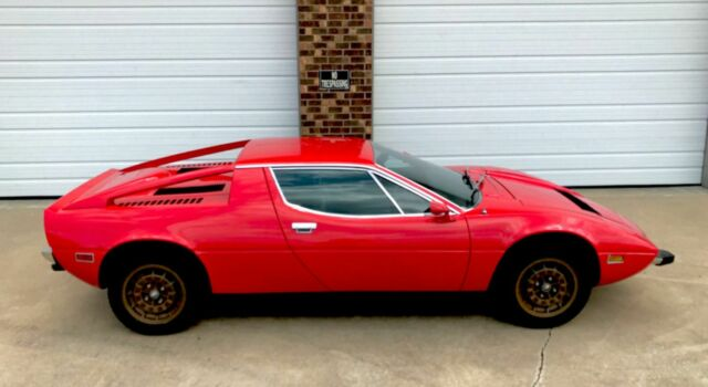 1974 Red Maserati Merak Coupe with Black interior