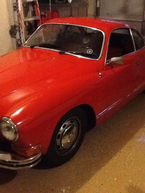 1974 Red Volkswagen Karmann Ghia Coupe with Red and iBlack interior