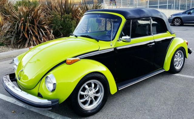 volkswagen super beetle custom convertible  sale  technical specifications