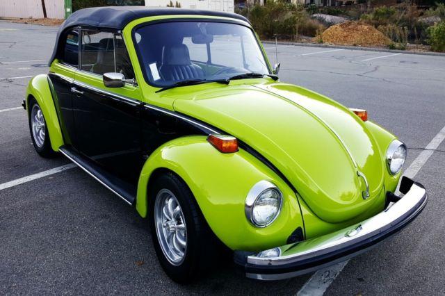 1974 volkswagen super beetle custom convertible for sale photos technical specifications. Black Bedroom Furniture Sets. Home Design Ideas