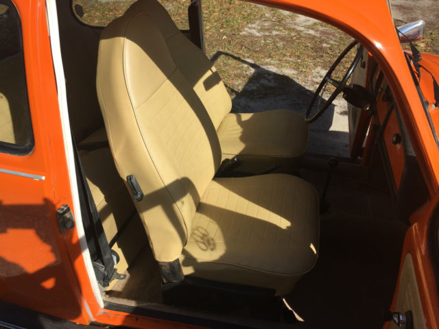 vw beetlebug orange   peanut butter interior runs great  sale