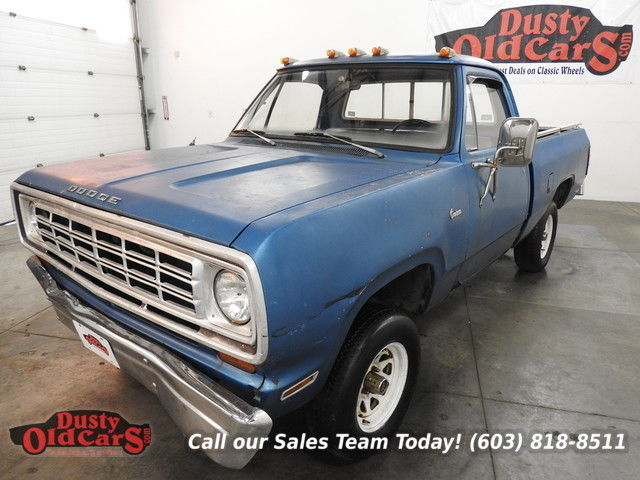 1975 Dodge Power Wagon Runs Needs Work 318V8 Good Resto Project
