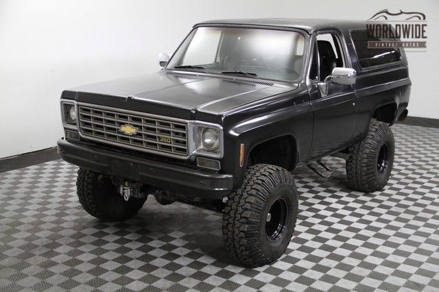 1975 Chevy Blazer 4x4 Red Lifted 350 V8 Auto Convertible Top