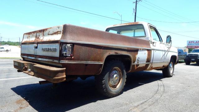 1975 chevy silverado 3 4 ton 454 v8 shop work truck long wheel base pickup for sale photos. Black Bedroom Furniture Sets. Home Design Ideas