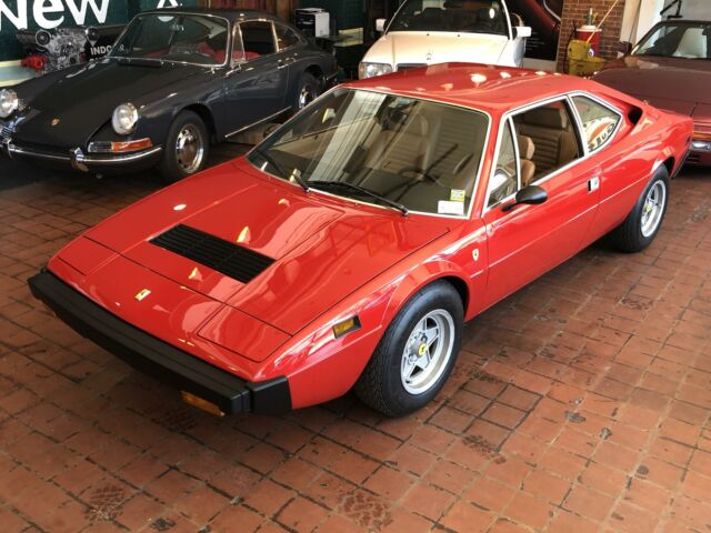 1975 Red Ferrari 308 GT4 COUPE with Tan interior