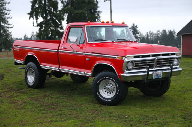 1975 ford f-250 xlt ranger 4x4 highboy showroom condition