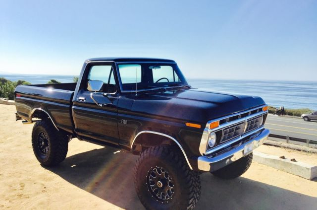 1975 Ford F100 Black 4x4! for sale: photos, technical ...