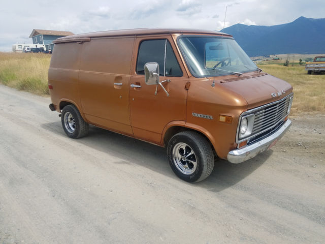 1975 gmc vandura shorty short chevy van panel hot rat rod. Black Bedroom Furniture Sets. Home Design Ideas
