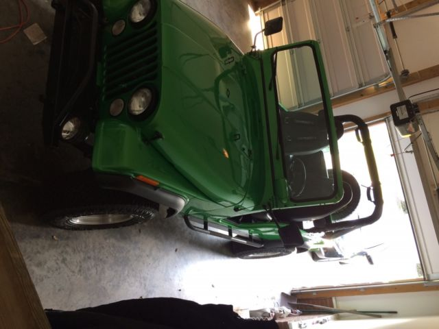1975 Green Jeep CJ Convertible with Black interior