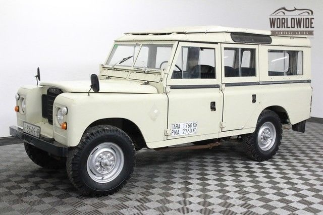 1975 Land Rover Defender 109 Diesel. LHD. 5 Door Wagon. Rare!