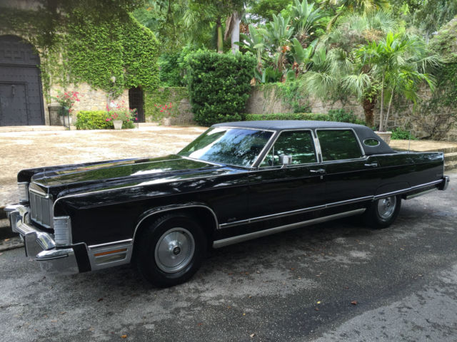 1975 lincoln continental triple black for sale photos technical specifications description. Black Bedroom Furniture Sets. Home Design Ideas