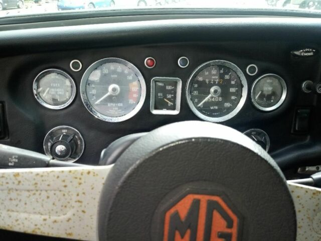 1975 Orange MG MGB Convertible with Black interior