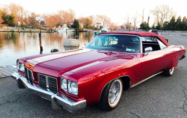 1975 garnet red Oldsmobile Eighty-Eight Custom Royale Convertible Convertible with Burgundy interior
