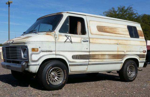 Custom Vans For Sale >> 1975 Original Custom GMC Van Orginal Paint &Fuel Injected 350 V8 Overdrive donor for sale ...