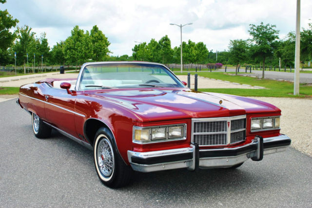 1975 Pontiac Grandville Convertible 455 V8 Windows Top Factory Air
