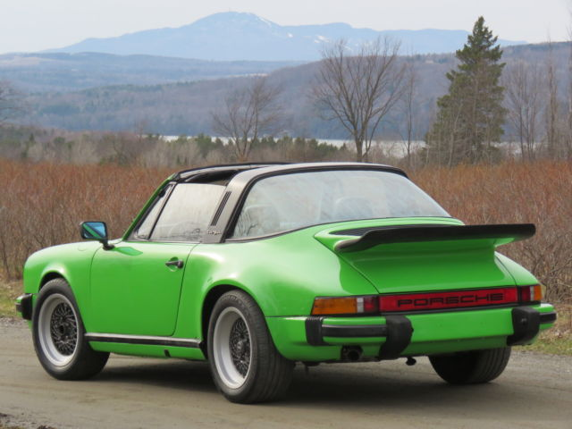 1975 porsche 911s targa euro rare original lime green for. Black Bedroom Furniture Sets. Home Design Ideas