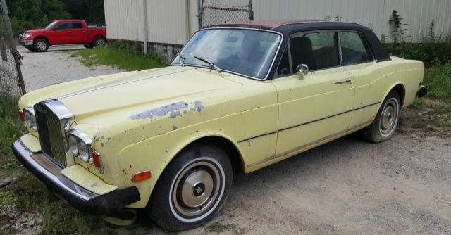 1975 rolls royce corniche 2- door for restoral / parts for sale