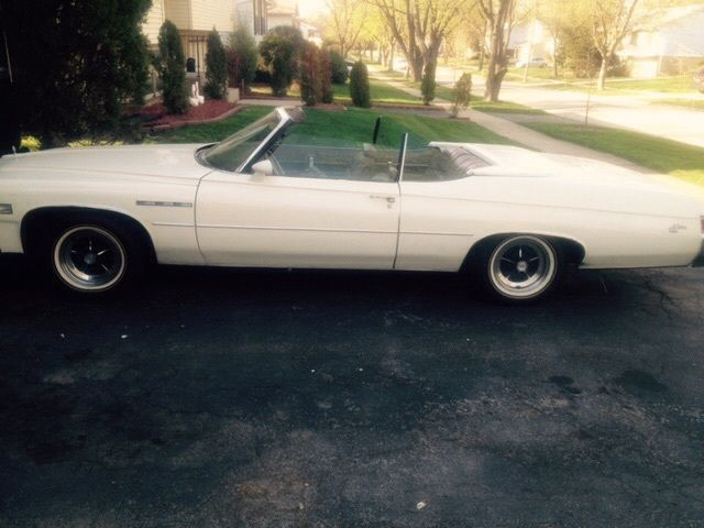 1975 White Buick LeSabre Convertible