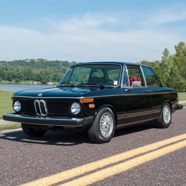 1976 BMW 2002, Numbers Matching, Black On Red, BBS Wheels