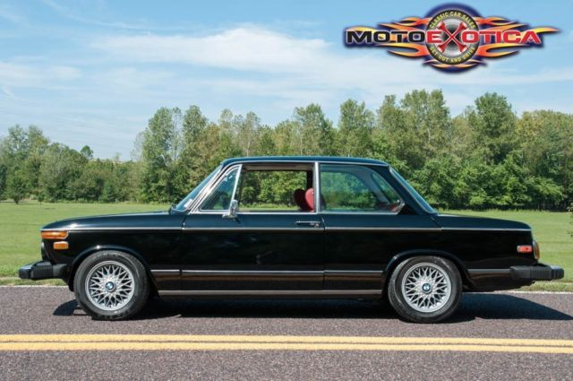 1976 Bmw 2002 Numbers Matching Black On Red Bbs Wheels 32k In