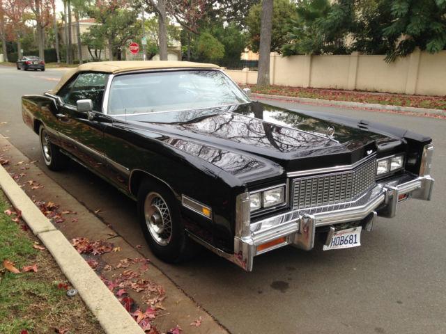 1976 Cadillac Eldorado Convertible Black On Black For Sale