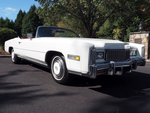 1976 Cadillac Eldorado Convertible White/Red Driver Quality Clean Car