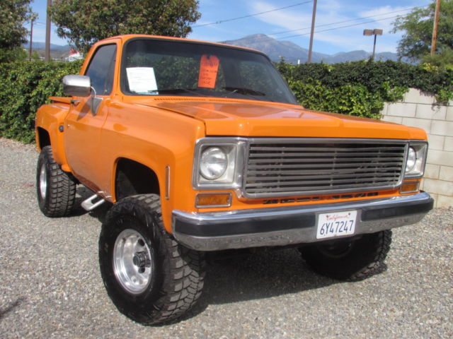 1976 chevy c10 4x4 step side short bed 350 v8 lots of for Chevy v8 motors for sale