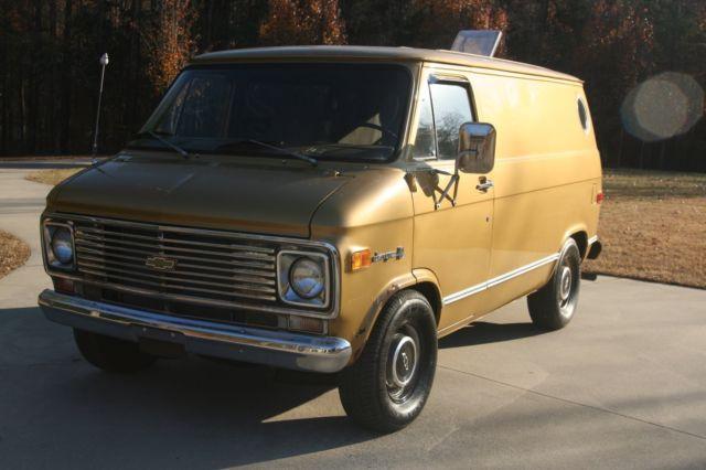 bd95ec927ebde6 1976 Chevy G10 Shorty Van CLASSIC SURVIVOR CHEVROLET SHORTY VAN RARE V8 AUTO