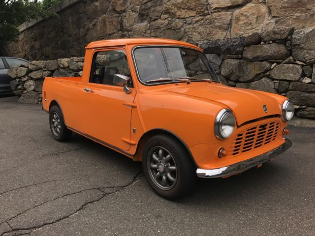 1976 Classic Austin Mini Truck Orange For Sale For Sale