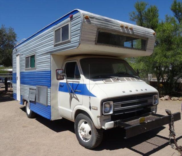 1976 Dodge 1 ton F30 RV Camper Van 360 AC Loaded Az truck NO