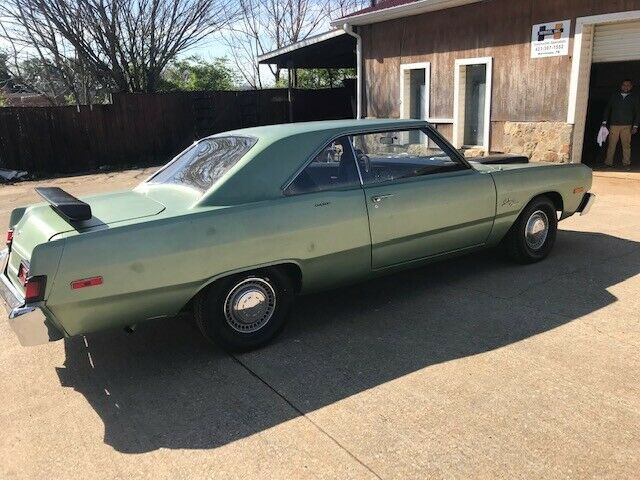 1976 Green & Black Dodge Dart Coupe with Black interior