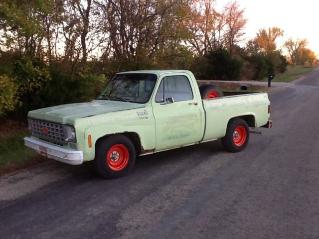 Used Cars Lawrence Ks >> 1976 green short wide lowered patina shop truck in-line ...
