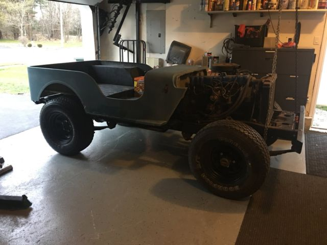1976 Jeep CJ5 rolling Chassis with CJ2 fiberglass body and
