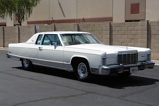 1976 Lincoln Continental One Owner Well Kept White On White Old